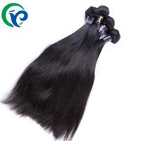 al por mayor bundles-Malasia Virgen Cabello liso 4 mechones de cabello humano de la armadura 6A bruto Virgen del pelo recto de 8