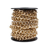 aluminum chain findings - 2 Meters Gold Silver Rose Gold Bulk Aluminum Curb Chain Necklace Jewelry Findings DIY Material