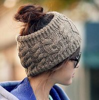 Wholesale street fashion women s adults lady crochet winter autumn empty wool hats womens wool caps wide headbands children s hats ear neck warmer