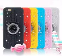 cell phone time - Hot Sale Watch Cell Phone Cases Mult Color TPU Rhinestone Clock Back Caese Cover Time Diamond Bling Covers Skin For iPhone plus