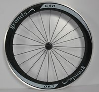 Wholesale grenda c60 carbon road bike wheels cc with hubs support speed very stiff and strong and very light bicycle wheels