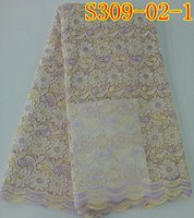 Wholesale Radiant guipure lace fabric in sky blue S309