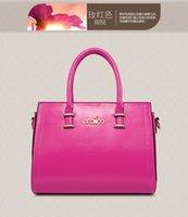 Cheap 2016 Hot Women Genuine Leather Tote Bag Temperament Lady Solid Color Leather Shoulder Bag Cross Body Simple Fashion Designer Handbags