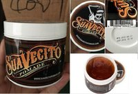 Wholesale Factory Wholesale100 HQ Suavecito Pomade Hair Oil waxes Strong style restoring ancient ways is big skeleton hair slicked back DHL Fast Ship