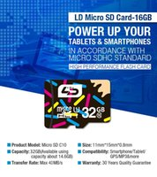 32gb sd sdhc - 60pcs Pass H2testw real capacity GB LD Micro SD Card Memory Card TF TransFlash Card class SDHC retail package from hi speed