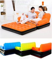flocked inflatable sofa bed - Inflatable Sofa easy to move colors honestgirl Single colored sofa flocking inflatable sofa bed sofa