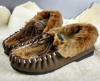 australian medium - 2016 new Australian kangaroo skin snow boot sheepskin inner winter boot unisex kangaroo fur moccasin casual boot large size