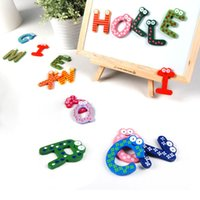 Wholesale Magnetic set Baby toys Letters Kids Wooden Alphabet Fridge Magnet Child Educational Toy W1
