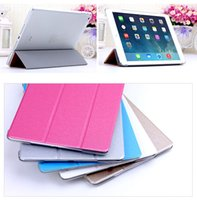 Wholesale Newest arrive Classic fashion and colorful Thirty percent silk grain thin leather case shell Tablet PC Stands for ipad5 air ipad mini2