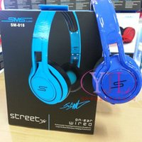 Wholesale SMS Audio STREET Cent Noise Cancel DJ Headphone Wired Over Ear Headphones Gaming Bike Frame Headset For Iphone smartphone MP