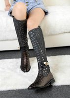 Wholesale Crocodile leather boots boots Inside in the warm cashmere size