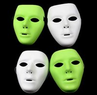 Wholesale DIY Mime Mask Ball Party Costume Masks Hip hop JabbaWockeeZ Blank Male and Female Face Mask Halloween Party Mask
