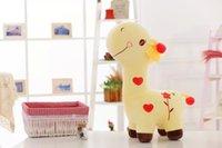 2016 NOUVEAU Cute Coloré 55cm Giraffe Peluche Peluche Peluche 28CM-55CM Livraison Gratuite Haut de gamme Exportation Qualité et Vente au détail HANCHENTE