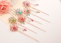 auger used - Hair Jewelry Classical hair clasp dish hair jewelry Using national wind hair accessories set auger and tassel Hairpins