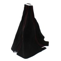 Wholesale Universal Gear Head Dust Cover Frosted Leather Gear Shift Knob Boot Car Modified order lt no track