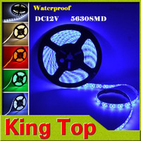 Wholesale Waterproof M LED Strip SMD LEDs M Flexible DC V more Bright than SMD Red Green Blue Cool White Warm White