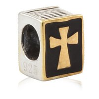 bible music - New DIY Gold The Bible Cross Charms Original Authentic Sterling Silver Beads fit for Pandora bracelets Necklaces