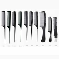 heat pack - Tony Guy Barber Hair Cutting Comb Carbon Fabric Material Black Color Heat Resistant Polybag Packing piece per DHL Free Shipment
