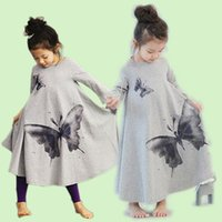 pajamas for children - Spring Autumn Girls Children Princess Pajamas Long Nightgown Child Cotton Lovely butterfly Sleepwear for Girls kids long robe long nightgown