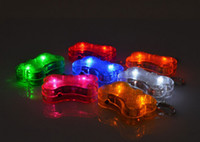 Wholesale 10PCS Pet Dog Tag Collar Id Tag Flashing Drop Pendant Safety Clip On Glow In The Dark Light Led Tag