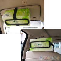 Wholesale Auto Accessories Car Sun Visor Tissue Box Holder Paper Napkin Seat Back Bracket JJM