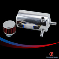 Wholesale PQY RACING UNIVERSAL BREATHER TANK OIL CATCH CAN TANK WITH BREATHER FILTER L PQY TK10