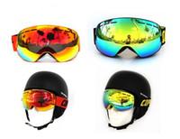 Wholesale 2016 New arrival ski goggles double UV400 anti fog big ski mask glasses skiing men women snow snowboard goggles fashion style FREE SHIP