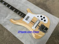 Wholesale Custom strings bass guitars natural wooden RICK Electric Bass guitars