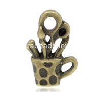 antique tin containers - Antique Bronze Pen Container Charms Pendants x13mm quot x1 quot sold per packet of B15903