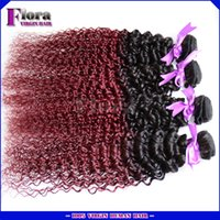 Cheap Hot Burgunday malaysian virgin hair kinky curl human hair weaves 99J red burgunday malaysian afro kinky curl 100% human hair bundle weaves