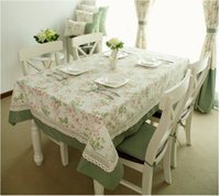 Wholesale 1pc French Style dinning table cloth coffee tablecloth Flowers Dots size by CM CM CM CM CM TH