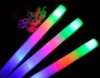 Wholesale 2016 EMS FREE Sponge Glow Stick Colourful Stick LED foam stick foam light sticks glow sticks concert tuba STICK sponge sticks