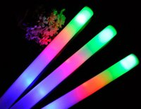 Wholesale Mix Color Led Foam Stick Glow For Wedding Party Decoration Camping Christmas Festivities Ceremony LED Toys Sponge Stick Bubble Bar