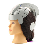 Wholesale Humanized Design Electric Head Massager Brain Massage Relax Easy Acupuncture Points Fashion Gray Health Care Home