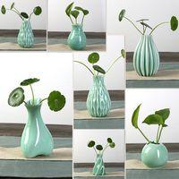Wholesale 2015 new Jingdezhen Ceramic Simple modern vase Desk decorations for Hydroponics flower