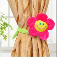 Wholesale Curtain buckle smiley plush cartoon curtain strap single CYB55