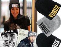 Prezzi Wool hat-donne Hip-Hop Hat VOGUE Skull Berretti Cappelli Cappellino di lana crochet 400pcs della protezione del cappello degli uomini della lettera Hat berretto da baseball cap hip hop / lot
