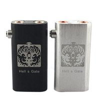 Cheap Hells Gate Mod Electronic Cigarette Machanical Mods Suit for Dual 18650 Battery with 2 Yep RDA Atomizer Large Vapor Hell s Gate Mod