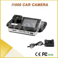 Wholesale Full HD P Dual Lens Car DVR Dual Camera Car Video Recorder Blackbox Dash Cam Night Vision View Dual Lens Camcorder i1000