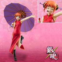 action wear - Silver Soul Gin Tama Gintama Kagura Action Figures wear cheongsam hold up an umbrella PVC by cm toys