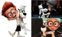achat en gros de chien de haute qualité des jouets en peluche-nouvelle 30CM M. Peabody Sherman Lunettes Chiens jouets en peluche blanc de haute qualité PP coton Livraison gratuite