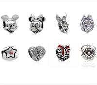 Metals wholesale china beads - Mixed Designs Alloy European Pandora Charms Metal Bead Fits Pandora Jewelry Bracelets China