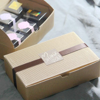 Wholesale Retail Corrugated Paper Boxes Bakery CupCake Cookies Boxes Food Soap Macarons Packaging Boxes
