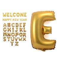 Wholesale 16 quot Gold Silver Letters Foil Balloons A Z Helium Mylar Balloon Wedding Christmas Birthday kids show Party Decoration letters Foil balloons