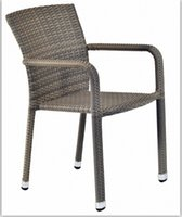 Wholesale 2015 Classic Tulip color PE rattan chair for restaurant Has been very popular
