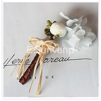 preserved flower - Pretty Preserved Flowers Bridal Groom Corsages Brooches Accessories Fresh New Top Quality Suits Match Wedding Supplies Gifts GC002
