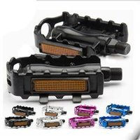 alloy comfort bike - New Durable Aluminium Bike Bicycle Pedals with Reflector Comfort Alloy Footboard Footrest Road Mountain Bike Parts