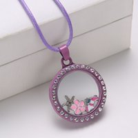 Cheap lockets Necklace Best Crystal Floating necklace