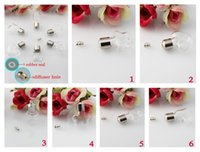 Wholesale 5PCS MM Mini Glass Vials With Preglued Metal Screw Caps mini glass bottle pendant DIY Bottle wishing vials