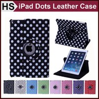 china drop shipping - Drop Shipping Dots Rotating Stand Leather Case For iPad Mini Retina Air Smart Sleep Wakeup PU Cover